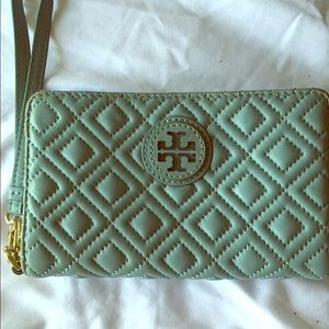 Tory Burch smartphone wallet blue Marion